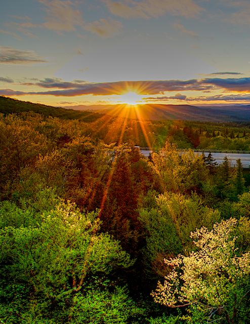 Sunset in the White Mountains by Joseph Bautsch in Member Albums